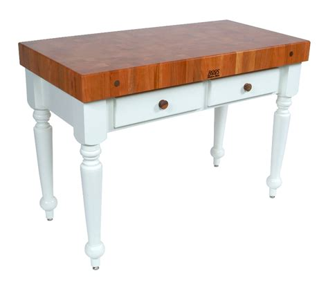 boos cherry top rustica butcher block table