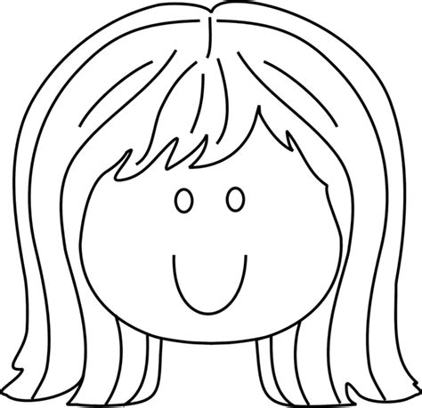coloring page girl face coloring pages of little girls face and hair www