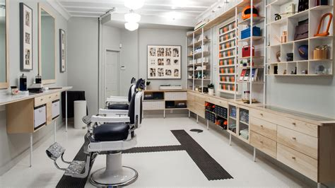Sho Hairx barber shop layout studio design gallery best design
