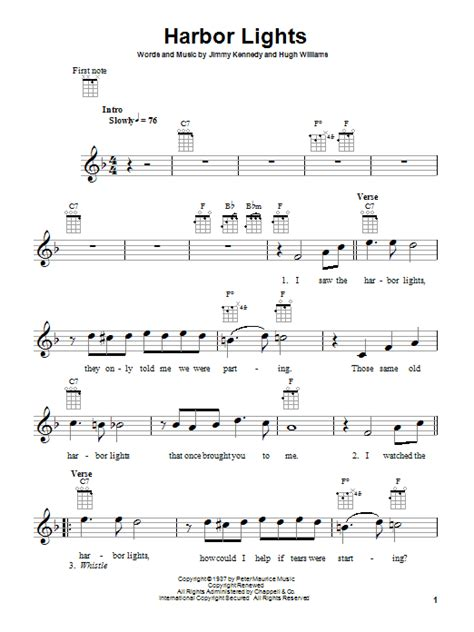 Harbour Lights Lyrics by Harbor Lights By Willie Nelson Ukulele Guitar Instructor