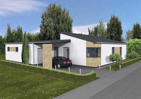 pultdach garage moderner bungalow dialuxe massivhaus berlin