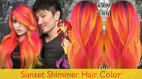 sunset colored hair sunset shimmer hair color