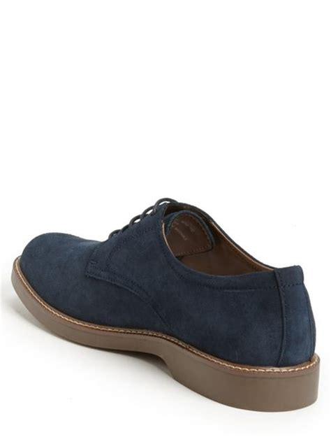 g h bass co pasadena buck shoe in blue for navy