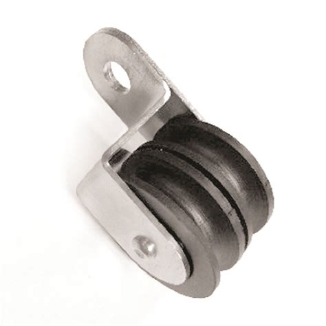 drapery pulley 1 1 2 double curtain nylon pulley w stainless steel