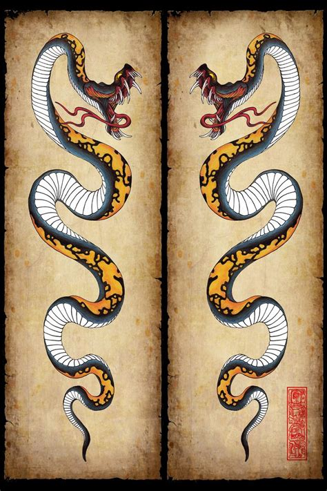 snake design tattoo https www search q snake tattoos clipart