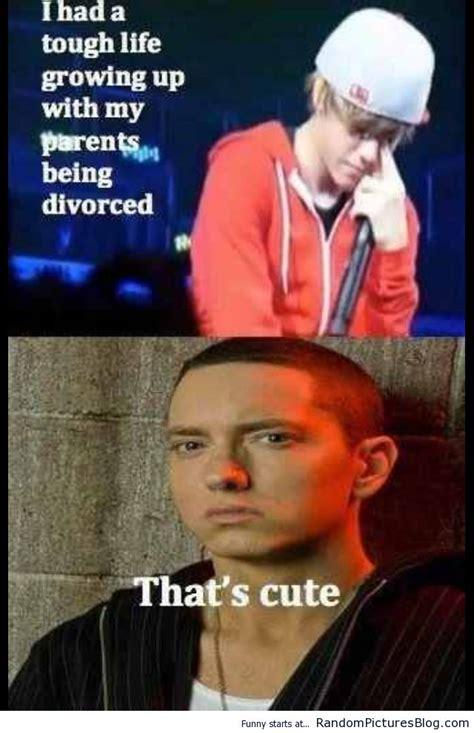 Funny Eminem Memes - only justin bieber popculturez com justin bieber rules