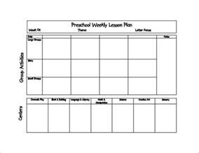 Free Preschool Weekly Lesson Plan Template by Preschool Lesson Plan Template 21 Free Word Excel Pdf