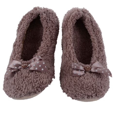 slippers size 6 new soft comfy fleece ballerina slippers non slip