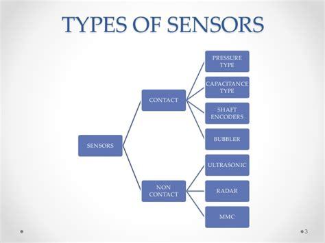 sensor type water level sensors