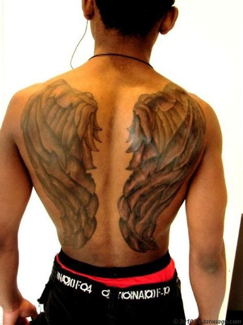 big tattoo big design on back of wings tattoos book