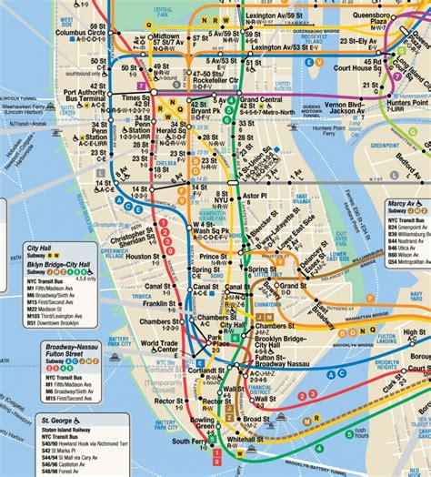 subway map of manhattan with streets downtown ny map albany buffalo within of nyc streets