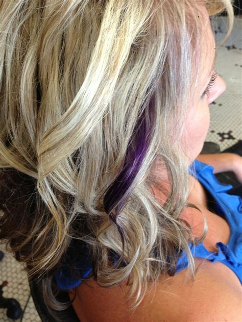 puple with blonde highlights blonde highlights with purple accent hair pinterest