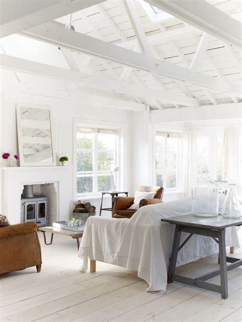 An English White Cabin Beach Home Tour   Glitter, Inc