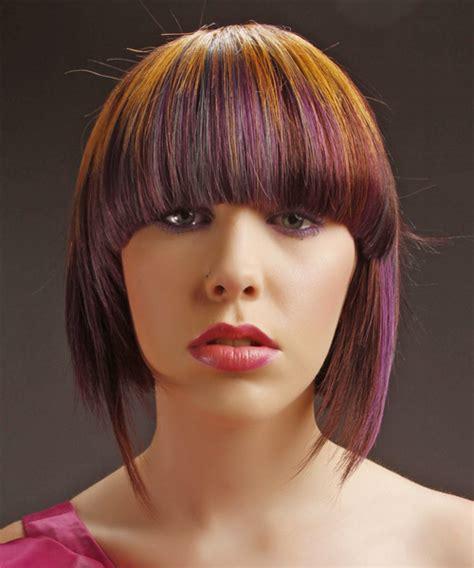 multie colored bob hair styles medium straight alternative bob hairstyle medium