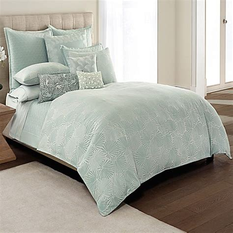 seafoam bedding catherine malandrino jade reversible duvet cover in seafoam bed bath beyond