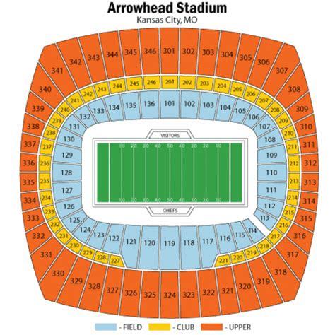 arrowhead stadium seating chart for kenny chesney arrowhead stadium seating chart