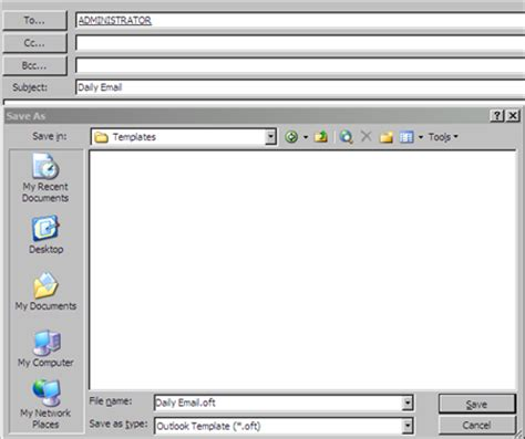 email templates for word create an email template in outlook 2003