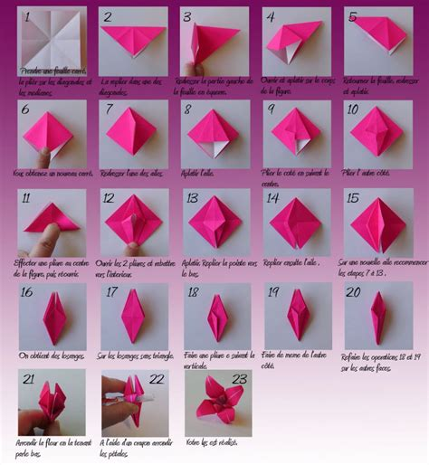 Fleur Origami - origami fleur de lys amigurumi origami