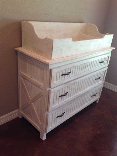 Used Changing Tables The Rustic Acre Custom Built Changing Table With Dresser Topper Can Be Removed When Baby