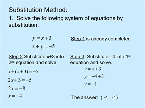 Solving System Of Equations By Substitution Worksheet by Linear System Of Equations Solver Openalgebra Solving