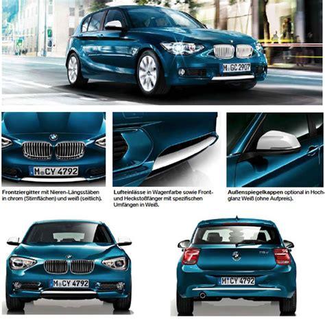 Bmw 1er 2011 Preisliste by Bmw 1er F20 Ausstattung Und Zubeh 246 R Premium Charakter