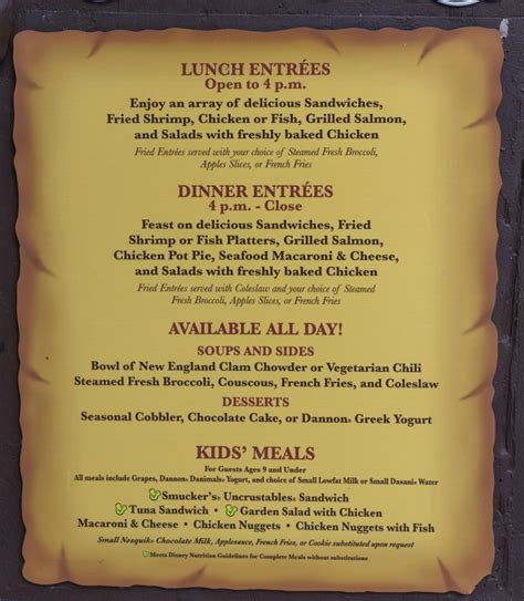 columbia harbor house menu columbia harbour house magic kingdom review and menu easywdw lobster house