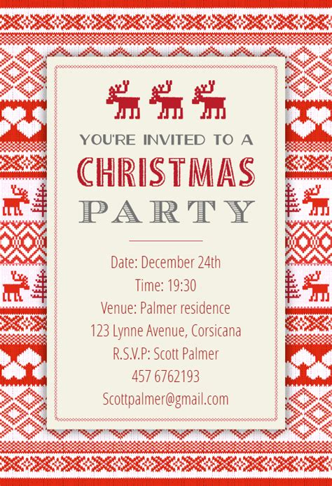 free printable christmas invitations template sweaters pattern free invitation template greetings island