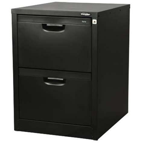 Europlan Filing Cabinet Europlan 2 Drawer Desk Filing Cabinet Matt Black Officemax Nz