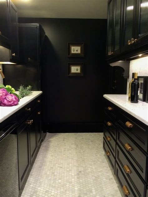 How To Paint My Kitchen Cabinets White It S Black It S White 171 The Interior Stylist