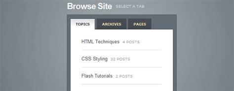 css tutorial tabs 30 css and javascript tabs plugins and tutorials