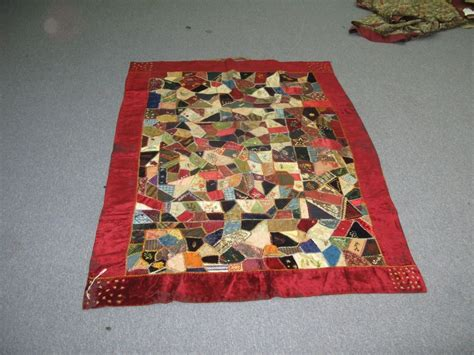Handmade Antique Quilts - antique american handmade quilt coverlet velvet