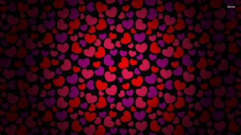 pattern background hearts red heart pattern wallpaper holiday wallpapers 2136