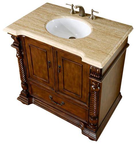 houzz vanity silkroad exclusive 36 quot traditional single sink bathroom