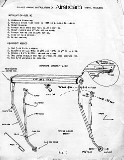 zip dee awning parts old 1970s zip dee instructions airstream forums
