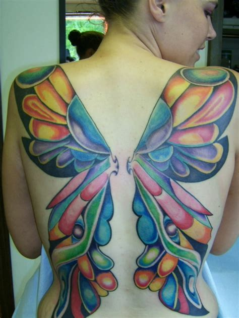 tattoo butterfly wings back butterfly tattoos and designs page 478