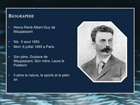 la biography de guy de maupassant guy de maupassant