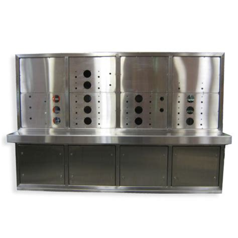 Box Panel Stainless Steel Custom custom console with removable panels heritage