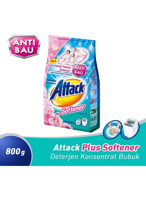 B5 So Klin Softergent 1 8kg kao attack detergent powder plus softener pck 800g