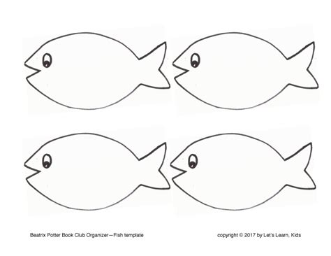 fish template pdf free templates let s learn