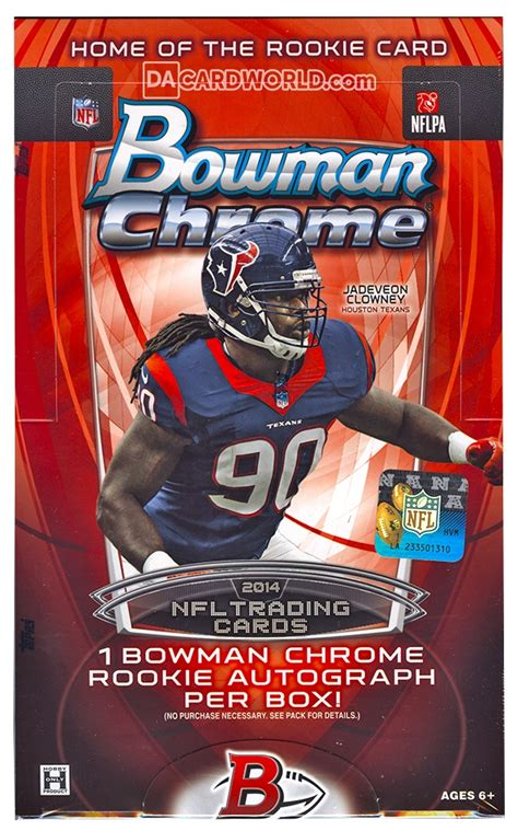 Soccer Com Gift Card - 2014 bowman chrome football hobby box da card world