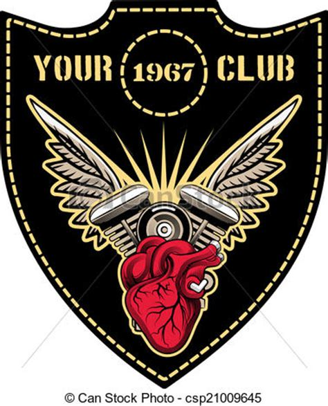 Eps Vector Of Motor Club Emblem Motor Club Emblem With Winged Engine Csp21009645 Search Motorcycle Club Logo Template Free