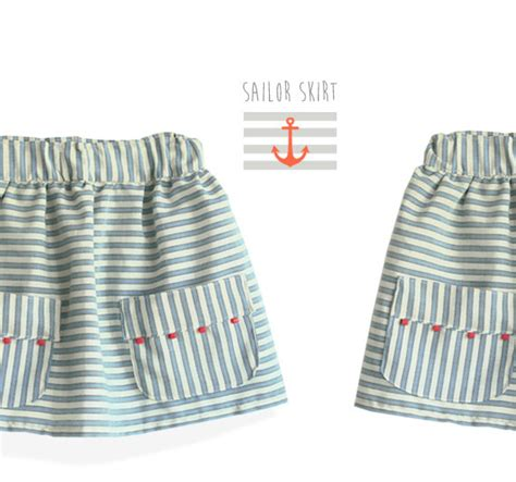pattern for 2 year old skirt sailor skirt pattern 6 months to 9 years sewjustsew