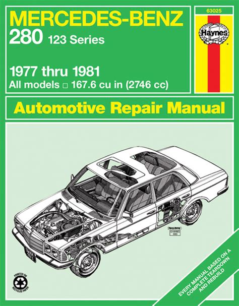 haynes repair manual mercedes benz 280 w123 1977 1981 pelicanparts com