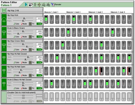drum pattern editor drum machine software make your own sweet beat