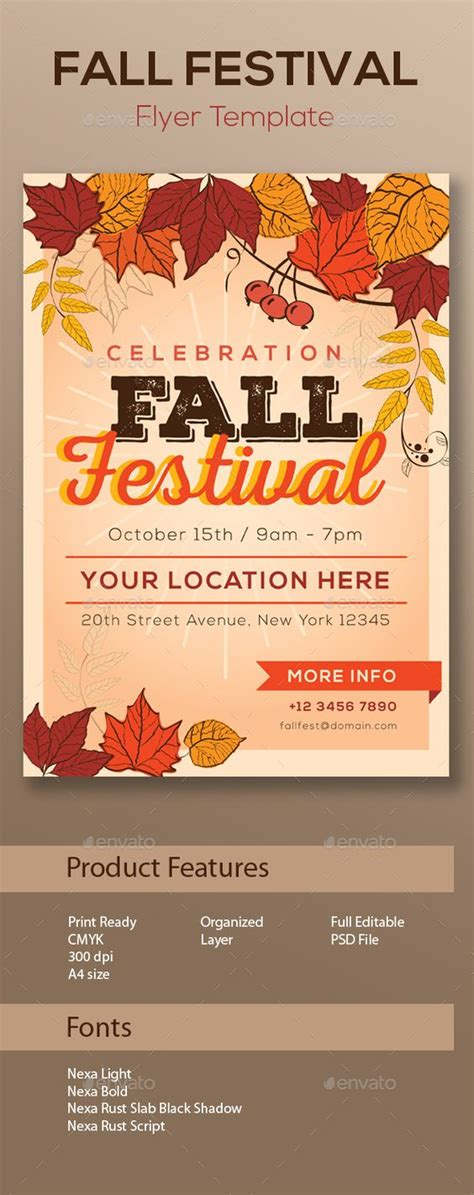 festivals flyer template and design on