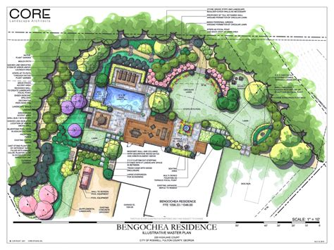 backyard plans designs siteplan square circular masterplan landscape