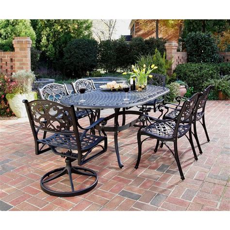 Outdoor Dining Set Jarrah Home Styles Biscayne Black 7 Patio Dining Set 4