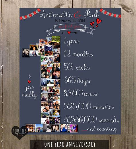 1 year anniversary ideas dating anniversary gift valentines day photo collage