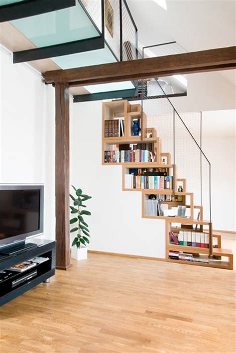 Banister In Spanish Steps To Saving Space 15 Compact Stair Designs For Lofts