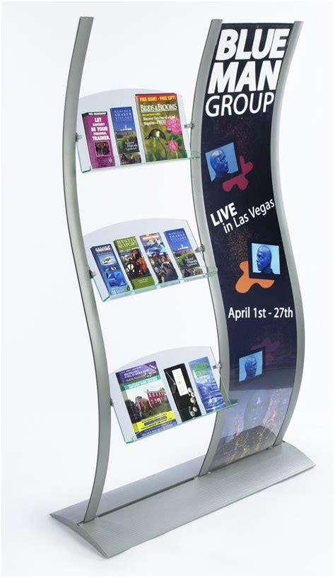 these literature holders are multi pocket displays